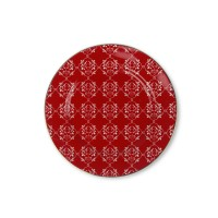 ZEN Piring Christmas Red - Merah diameter 21 cm