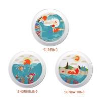[3 Pcs] ZEN Piring Souvenir Beach Edition - diameter 18 cm