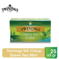 Twinings Teh Celup Green Tea Mint 25x2gr