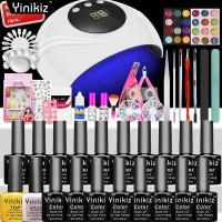 Yinikiz Nail Art Set Nail Lamp Dryer Manicure Tool 8ml Soak Off Nail
