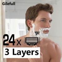 24pcs/Pack Men's Face shaving Razor Blades Beard Shaver Blade Men