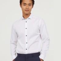HnM Men Formal Shirt BIGSIZE - Kemeja H&M Casual Putih Pria JUMBO SIZE