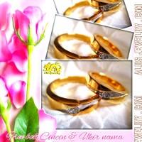 Cincin kawin nikah tunangan Cantik & Mewah Emas murni &Perak 925 AL343