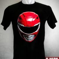 Kaos Power Rangers Red Ranger Mask Ukuran XXL