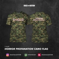Tshirt Horror Profanation Camo Flag