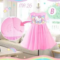 Dress Fashion Anak Perempuan Kucing Sayap Pink CLMA26B