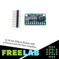 16-bit I2C ADS1115 Module ADC 16 bit 4 Channel with Pro Gain Amplifier