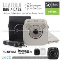 Fujifilm Leather Bag Polaroid Instax SQUARE SQ20 Tas Case Kamera SQ 20 - Hitam