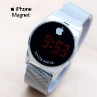 Jam Tangan Wanita Jam Tangan Iphone Magnet Digital Rantai Pasir Bulat - HITAM ROSE