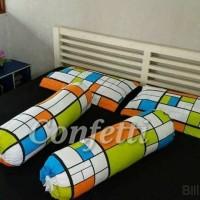 Sprei bahan Kaos Confetti + Sarung Ba GuL bahan katun motif BILLIO - Uk 90x200x30cm