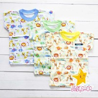 Kaos Anak Oblong Ridges Baju Bayi Harian Anak Karakter Animals
