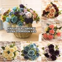 Bunga Peony 2 Warna Artificial Plastik Palsu Hias Dekor Shabby murah