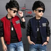 Jaket anak Varsity Semi Leather premium