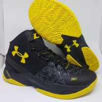 Sepatu Basket Under Armour Curry 2.0 Black Yellow Man Murah - ,