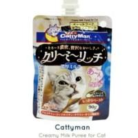 Snack Kucing Cat Liquid Cattyman Creamy Milk 90gr