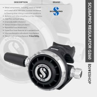 SCUBAPRO REGULATOR G260 2ND STAGE ONLY