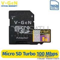 MMC Micro Sd Vgen 8gb class 10 turbo series + adaptor