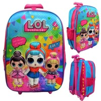 Tas Trolly Sekolah Anak SD LOL 3D 2 Resleting