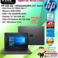 "HP 240 G6 - HPQ3UH44PA (14""Inch) Core i5-7200U/4GB/1TB/WIN10SL/1YEAR"