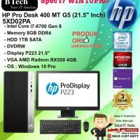 HP PRO DESK 400 MT G5 - 5XD02PA Core i7-8700/8GB/1TB/DVDRW/W10PRO/3YR