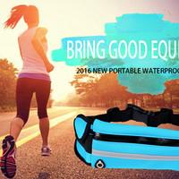 Tas Olahraga tas pinggang Olahraga Waterproof Kantong HP Olahraga