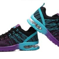 Akexiya Luar Ruangan Olahraga Lari Sepatu Lace-Up Pelatih Rajutan