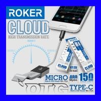 ROKER CLOUD OTG Type C Male to USB Female OTG Kabel Tipe C 480Mbps 150