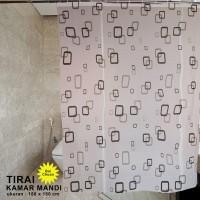 Shower Curtain Tirai KAmar Mandi EY-02 Size 180x180 cm - kotakkecil