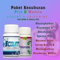 Scount & Lhifemine - Obat Penyubur Pria Wanita - Obat Kesuburan BPOM