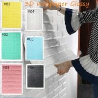 Wallpaper brickfoam sticker dinding 3D premium uk 70cm x 80cm
