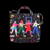 """Hanging Out At The Museum """"Friends"""" Totebag"""