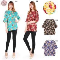 Listy jumbo blouse wanita atasan katun