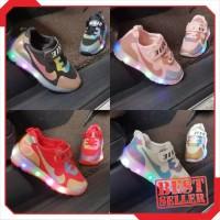 Harga 2231 led niki knie colourfull sepatu kets anak tk | Pembandingharga.com