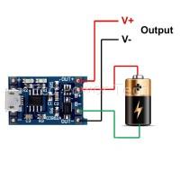 Modul TP4056 03962A 1A Combo Micro USB Charger 18650 Li-Ion Baterai