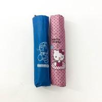 Payung lipat 3 doraemon hello kitty / antiuv / lapis silver - 9341