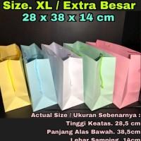 DIJUAL PAPER BAG / TAS KERTAS / PAPERBAG / WARNA SIZE XL TALI WARNA