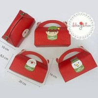 DIJUAL CHRISTMAS GABLE BOX / COOKIES/ SOUVENIR / HAMPERS / PAPER BAG