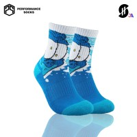 Kaos Kaki Olahraga Basket 'Anak' | Stayhoops Socks - Blanco