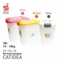Catidea Pet Container 15-18kg wadah penyimpanan makanan hewan