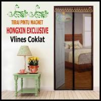 Tirai Magnet Hongxin Vlines Coklat Ukuran 200x240cm