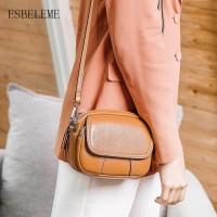Tas Wanita promo Mewah Genuine Leather Flap Tas Wanita Tas Bahu untuk a42162bfd3