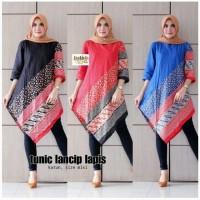 Tunik Batik Atasan Batik Batik Wanita Blouse Batik Hitam