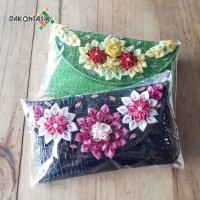 Clutch Pesta anyaman pandan full croco / clutch pesta bunga dakontasik