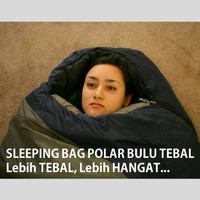 Sleeping Bag Polar Bulu Sleping Sliping Slepping Kantung Kantong Tidur
