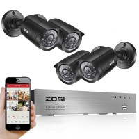 ZOSI Wired DVR Kit HD 4Ch with 4 CCTV 720P