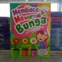 Buku Mewarnai Bunga dan belajar menulis, membaca