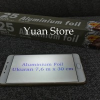 Harga aluminium foil 30cm x 7 6m foil roll foil gulungan foil | antitipu.com