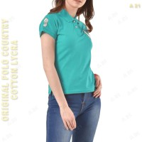 C3-32 Poloshirt Kaos Wanita Tosca Lengan Pendek POLO COUNTRY Original