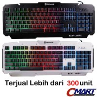 Rexus Keyboard Gaming K9D Semi Mechanical 19 Keys Anti Ghost - RX-K9D