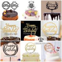 AB01 - Cake Topper / Tusukan Hiasan Kue Happy Birthday ACRYLIC BESAR